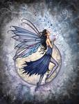 Midnight Blue fairy by Molly Harrison