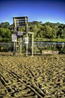 Lifeguard Chair at With Lake
