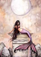 Sea Princess Mermaid Fantasy Art Print by Molly Ha