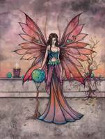 Elements in Sync Mystical Fairy Fantasy Art Print