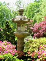 Japanese Garden Lantern with Azaleas