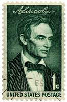 Beardless Abraham Lincoln Commemorative Stamp