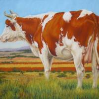 Cow On The Lookout Art Prints & Posters by Margaret Stockdale