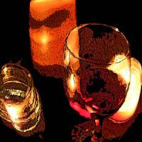 Candles and Wine Art Prints & Posters by Michelle Hoffmann
