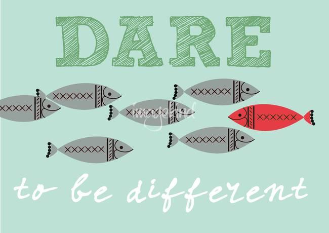 Scandinavian Design Fish Poster Dare To Be Free By Patruschka Hetterschij