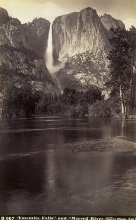 Yosemite Falls by Taber, c1890, Calfornia