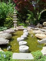Japanese Garden Stepping Stones and Lantern