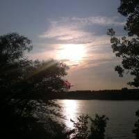 Sunset Over The Lake Art Prints & Posters by PAUL Bessette