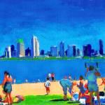 Beach at Ferry Landing, Coronado Island Art by RD Riccoboni