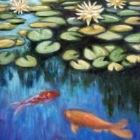 Koi Pond Art Prints & Posters by Ara Witmer