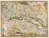 1644 Jansson Map of Alsace Basel and Strasbourg Ge