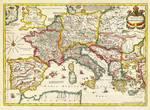 1657 Jansson Map of the Empire ofCharlemagne Geogr