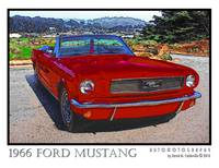 1966 Ford Mustang - Dark Red