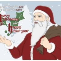 Santa Season's Greetings Art Prints & Posters by Ronggowisnu Prihadi
