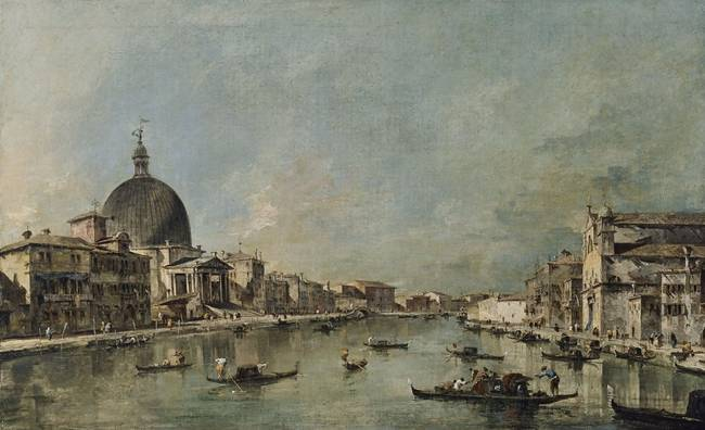 Francesco Guardi The Grand Canal with San Simeone