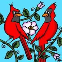Two Red Cardinals