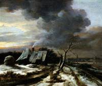 Jacob van Ruisdael Winter Landscape with a vie