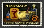 Pharmacy Stamp with Bowl of Hygeia