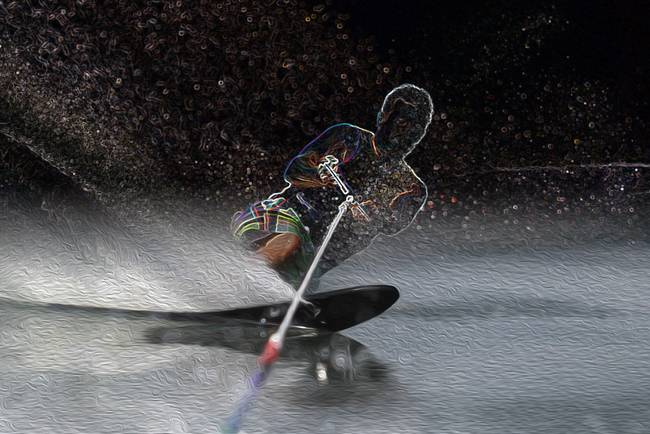 Waterskiing Art