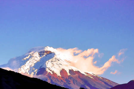 Evening Sun on Cotopaxi Volcano