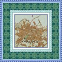 Casablanca Map with Tile Border