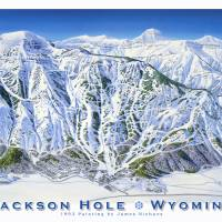 """Jackson Hole-1993"" by jamesniehuesmaps"