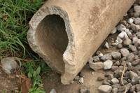 Broken Concrete Pipe