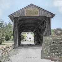 """Goddard Covered Bridge, Flemingsburg, kentucky"" by BrendaSalyersArt"