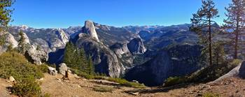 Yosemite Valley and Half Dome Panorama