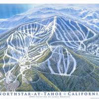 """""""Northstar-at-Tahoe, California"""" by jamesniehuesmaps"""