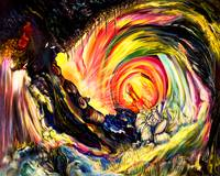 Space Time Abstract Attraction Of Love