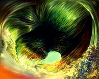 Space Time Abstract Hurricane Eye
