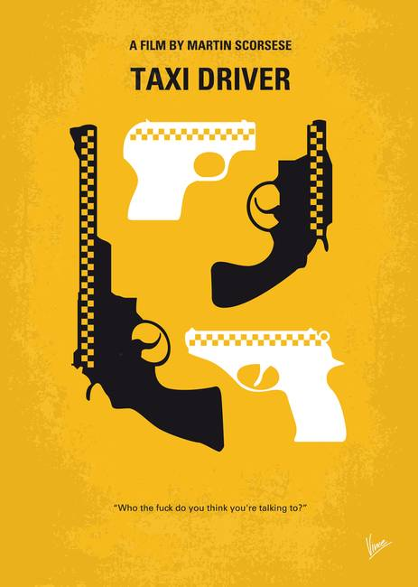 No087 My Taxi Driver Minimal Movie Poster By Chungkong Art
