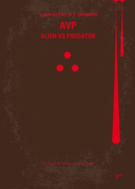 No148 My AVP minimal movie poster