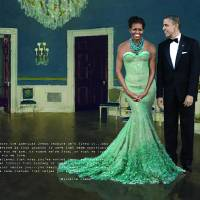 Michelle & barack in the White House Art Prints & Posters by Harrison Byars