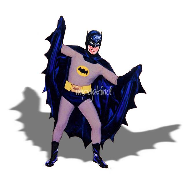 Batman Extending Cape - White - Shadow