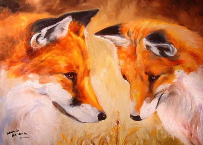 TWO FOX and a LADYBUG