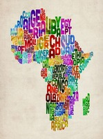 Typography Map of Africa