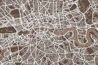 London Map Coffee Brown