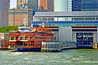 Staten Island Ferry at Port in NYC