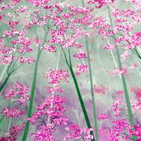 Pink Bloom Forest