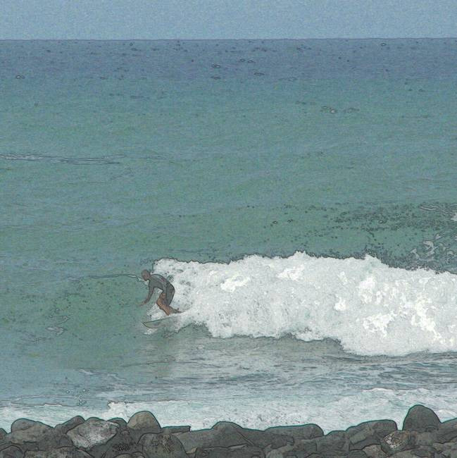 Surfer Hawaii Big Island 1