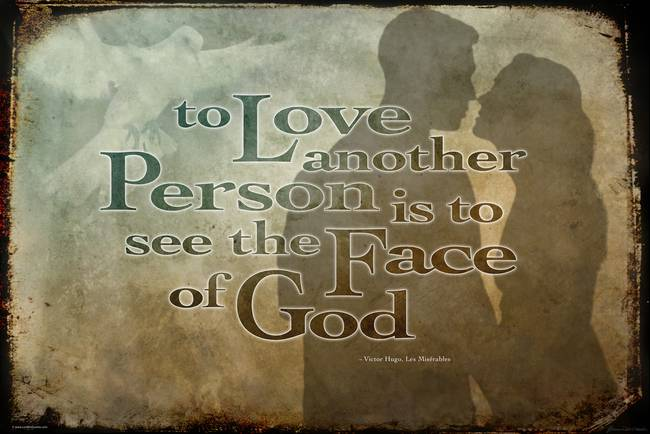 To love is to see the face of god