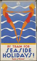 Train Vintage Travel Poster Ad Retro Prints