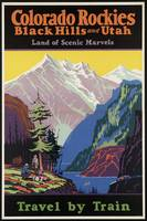 Colorado Rockies Vintage Travel Poster Ad Retro Pr