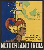 Netherland India Vintage Travel Poster Ad Retro Pr