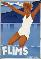 Flims Vintage Travel Poster Ad Retro Prints
