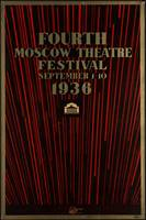 Fourth Moscow Theater Festival 1936 Vintage Poster