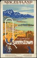 Queenstown New Zealand Vintage Travel Poster Ad Re