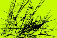 Strike Out Lime Green and Black Abstract